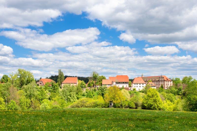 Het kloosterklooster van Kirchberg in Sulz Duitsland wordt gevestigd dat royalty-vrije stock foto's