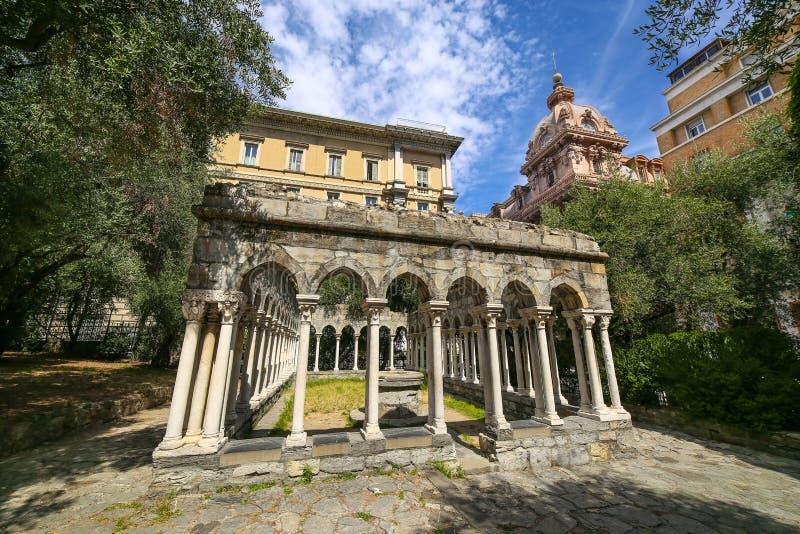 Het kloosterruïnes van heilige Andrew, Genua royalty-vrije stock fotografie