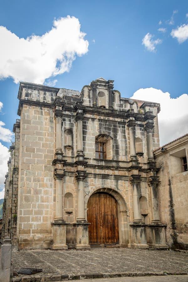 Het kloosterruïnes van Lascapuchinas - Antigua, Guatemala stock fotografie