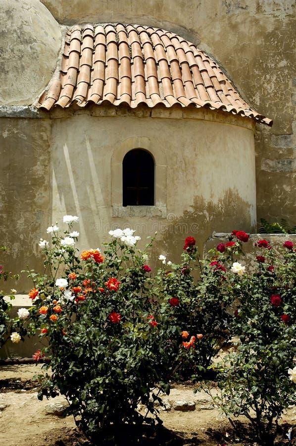 Het kloostervenster van Kreta Arkadi royalty-vrije stock fotografie