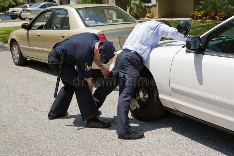 Het Klopje van de politie neer royalty-vrije stock foto