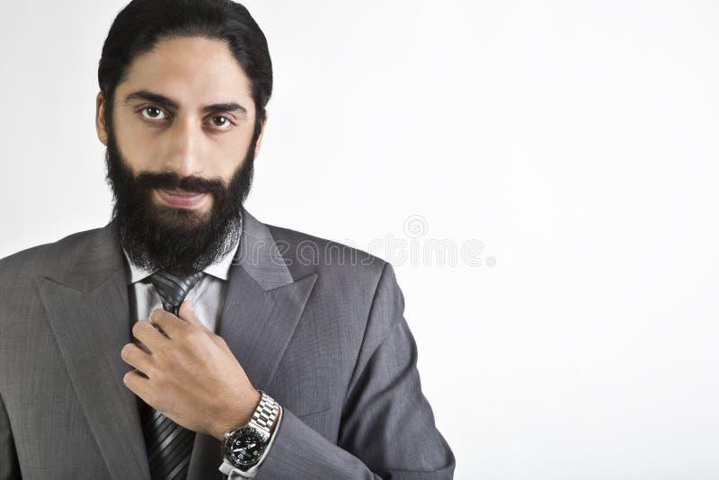 Het knappe jonge zakenman stellen stock fotografie