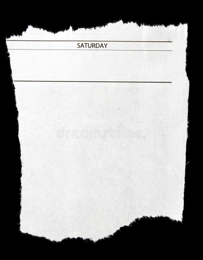 Het knippen van de krant royalty-vrije stock afbeeldingen