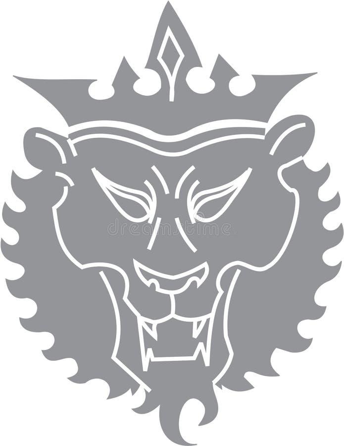 Het knippen van de leeuw weg royalty-vrije illustratie
