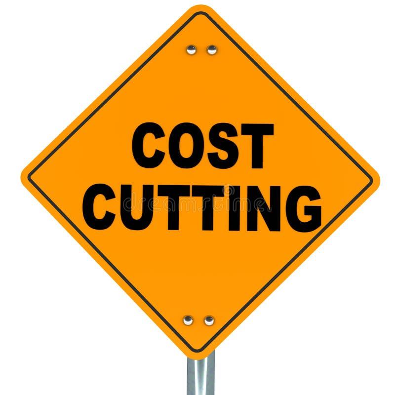 Het knipsel van kosten stock illustratie