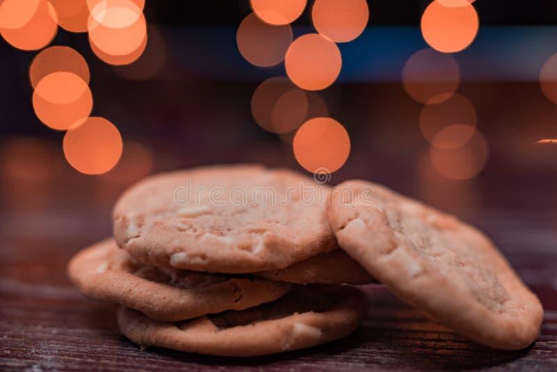 het koekje is gebakken of een gekookt voedsel t royalty-vrije stock fotografie