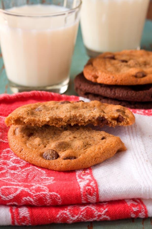 Het koekje van de Chocoladeschilfer stock afbeeldingen