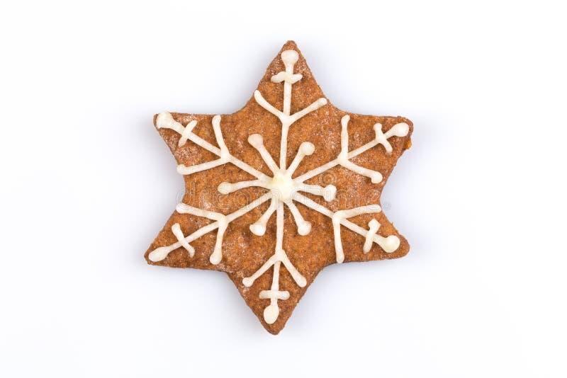 Het koekje van de Kerstmispeperkoek van de stervorm royalty-vrije stock afbeeldingen