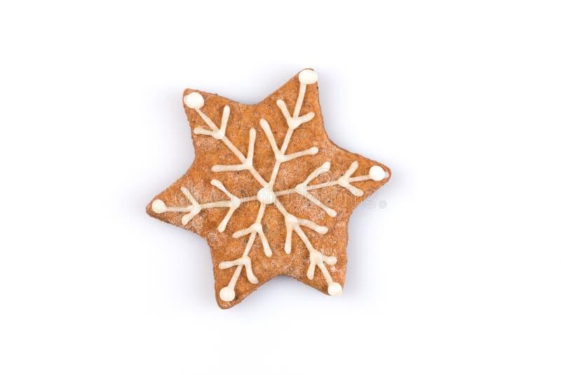 Het koekje van de Kerstmispeperkoek van de stervorm royalty-vrije stock foto