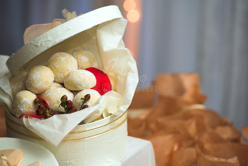 Het koekjesbanketbakkerij van de karamel royalty-vrije stock afbeelding