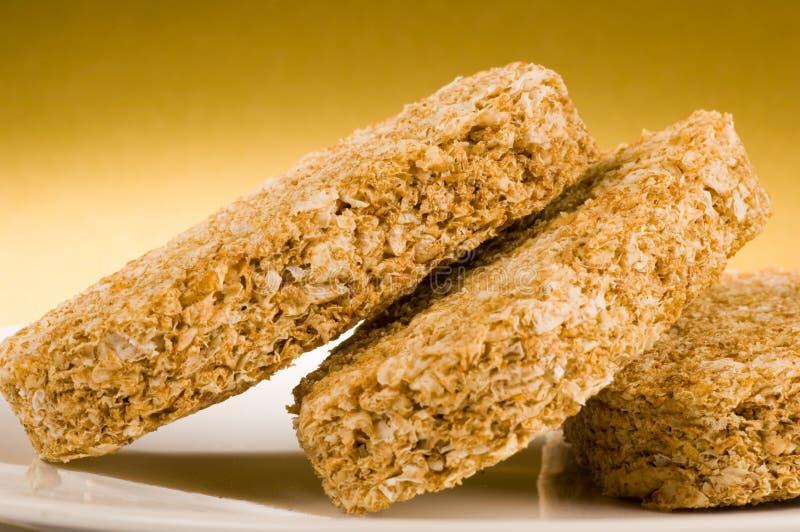 Het koekjesontbijt van de tarwe royalty-vrije stock afbeelding