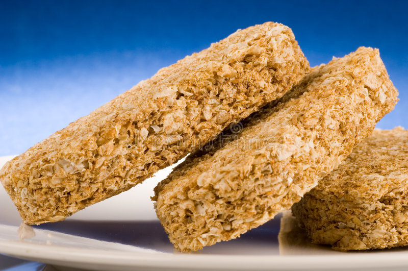 Het koekjesontbijt van de tarwe royalty-vrije stock afbeeldingen