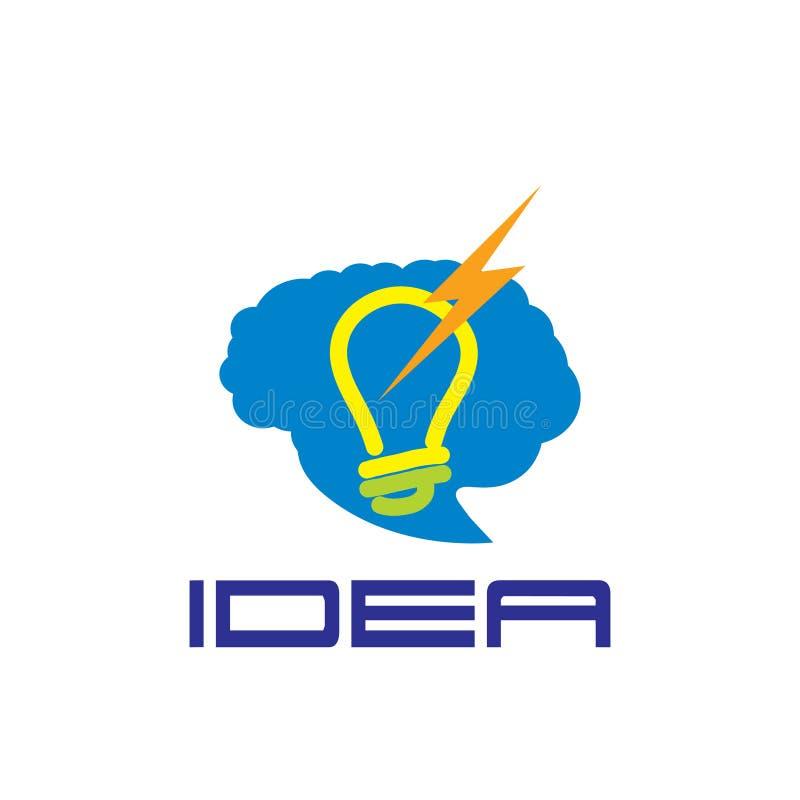 Het koele conceptontwerp van het Brainstormings creatieve idee vector illustratie