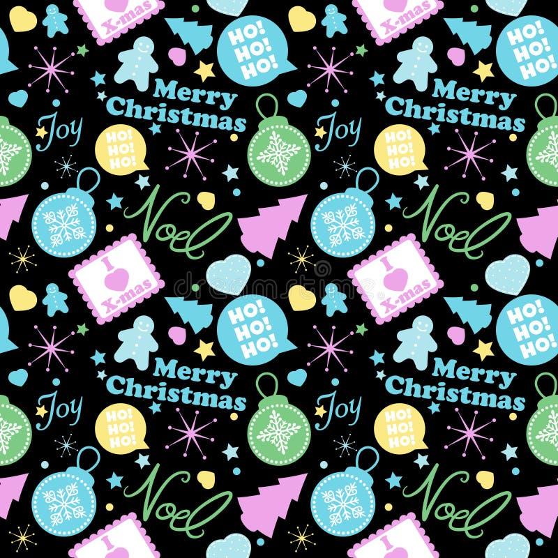 Het koele Patroon van Kerstmis royalty-vrije illustratie