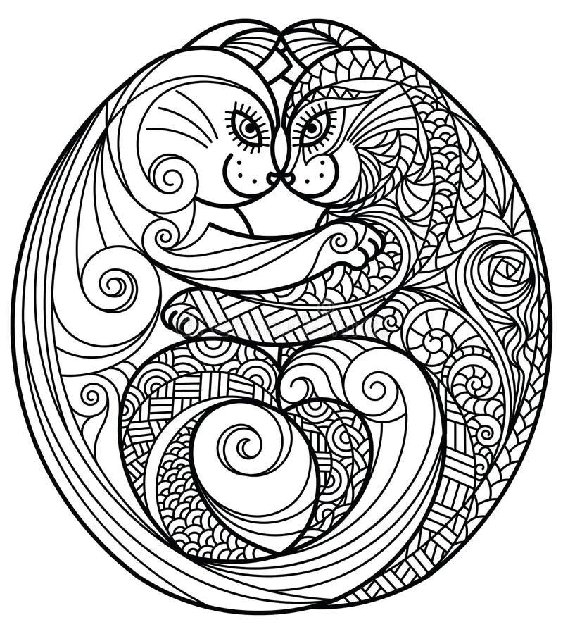 Het koesteren van katten vector illustratie