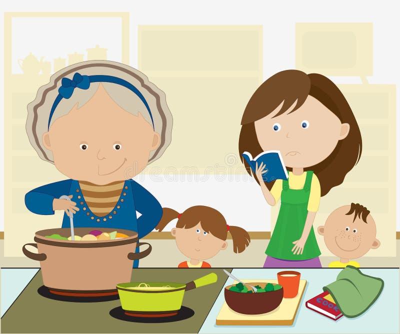 Het koken. royalty-vrije illustratie