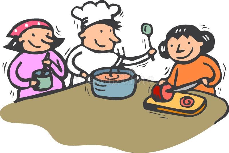 Het koken stock foto