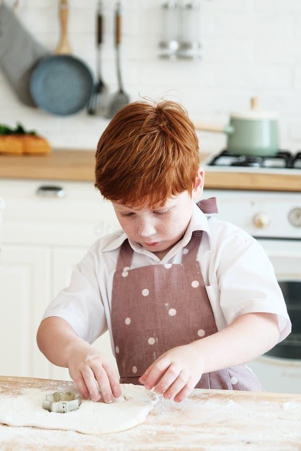 Het koken met jonge geitjes stock afbeelding