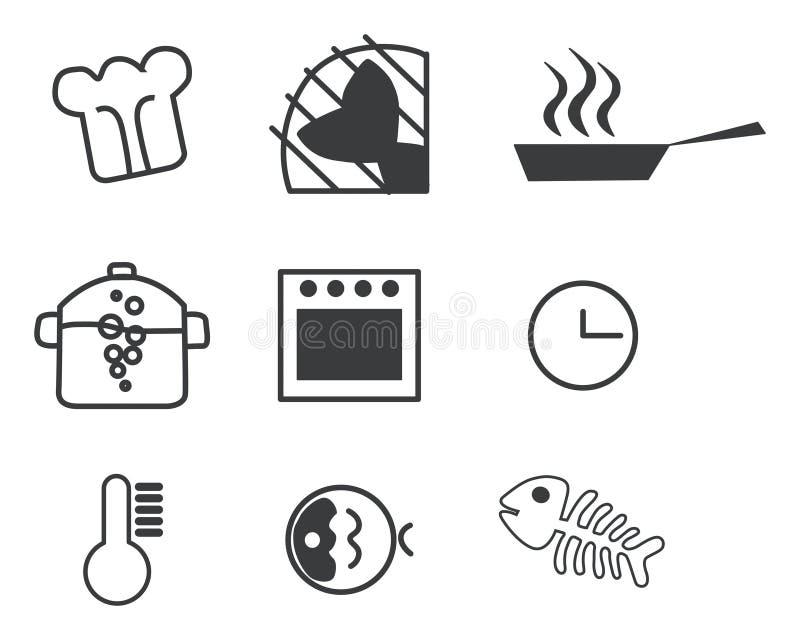 Het koken pictogramreeks vector illustratie