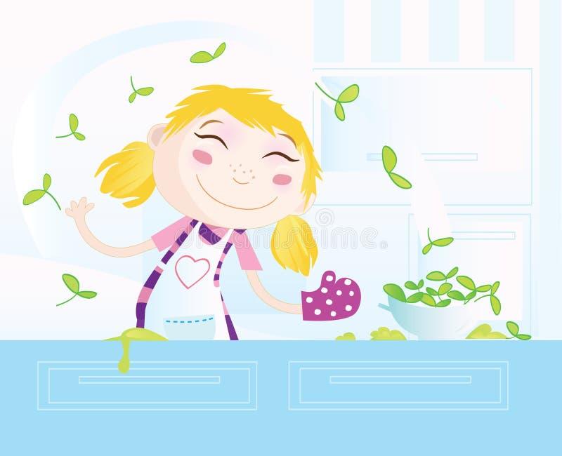 Het koken is pret! vector illustratie