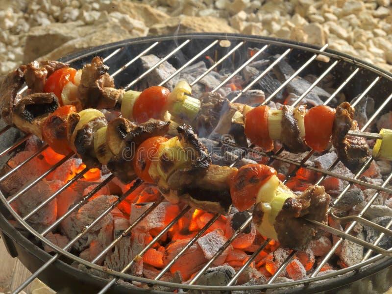 Het koken van de grill stock fotografie