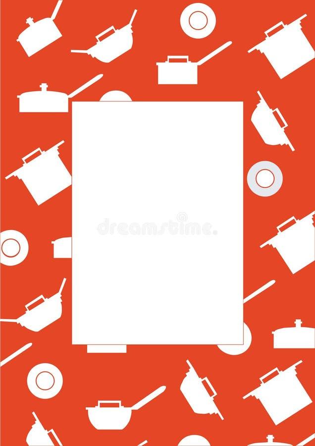 Het koken van het frame kleur 01 stock illustratie