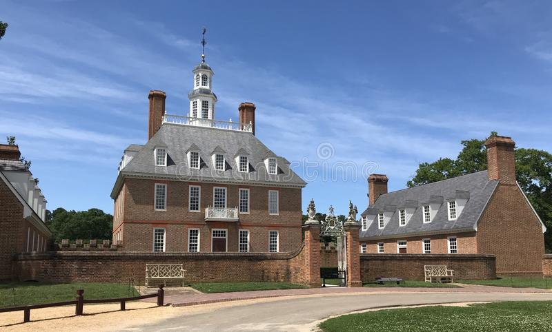 Het koloniale Paleis van Williamsburg Governor's royalty-vrije stock foto's