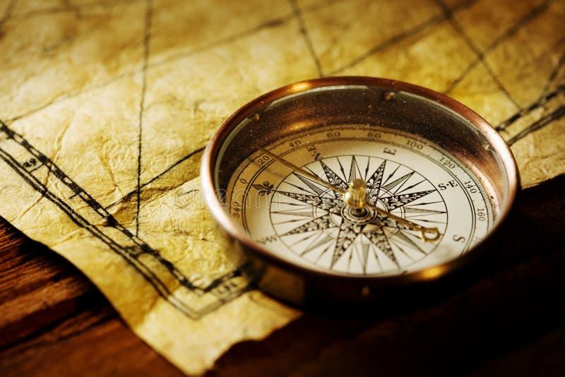 Het Kompas van de navigatie stock afbeelding