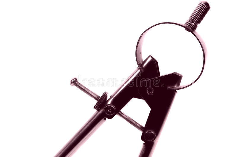 Het Kompas van de tekening royalty-vrije stock foto's
