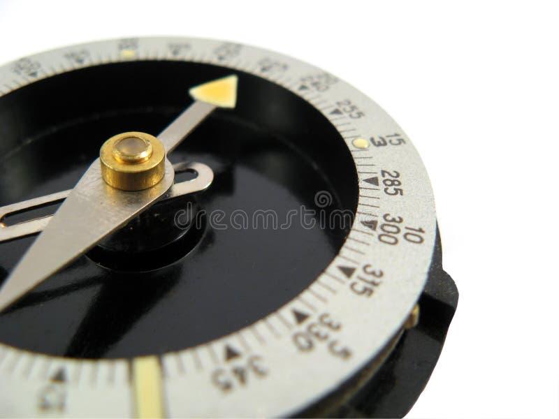Het kompas van de toerist navigeert naald stock foto