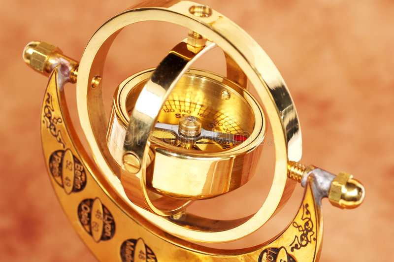 Het Kompas van Gimball royalty-vrije stock afbeelding