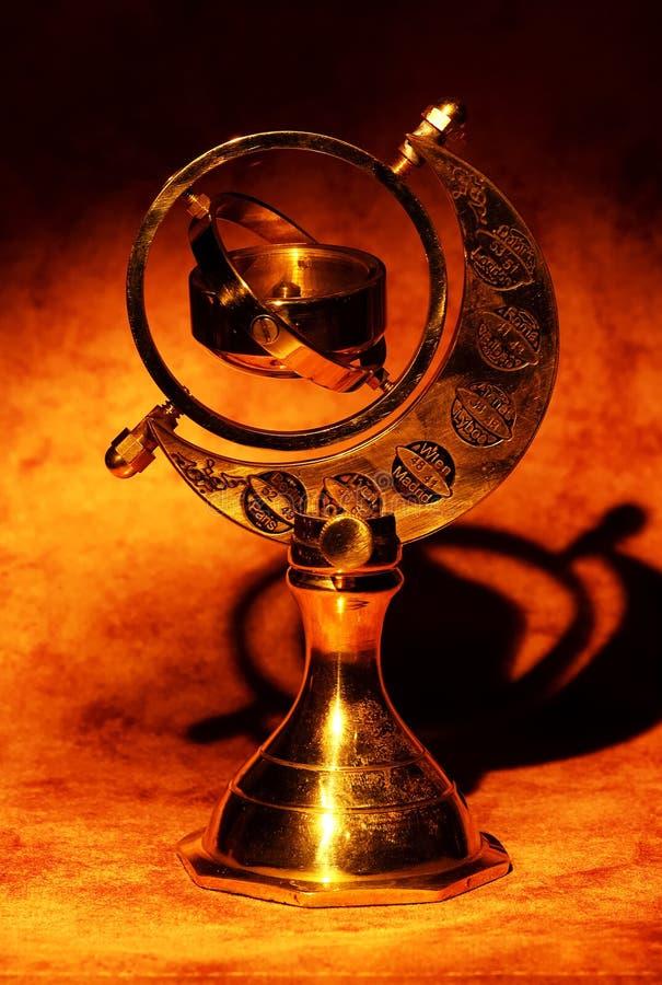 Het Kompas van Gimball royalty-vrije stock foto's