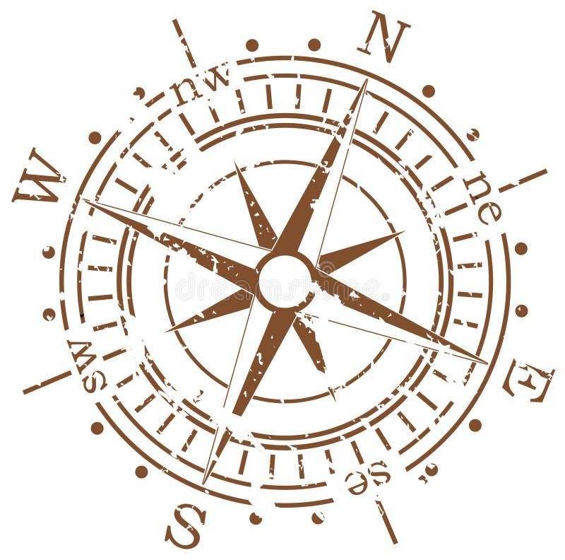 Het kompas van Grunge stock illustratie
