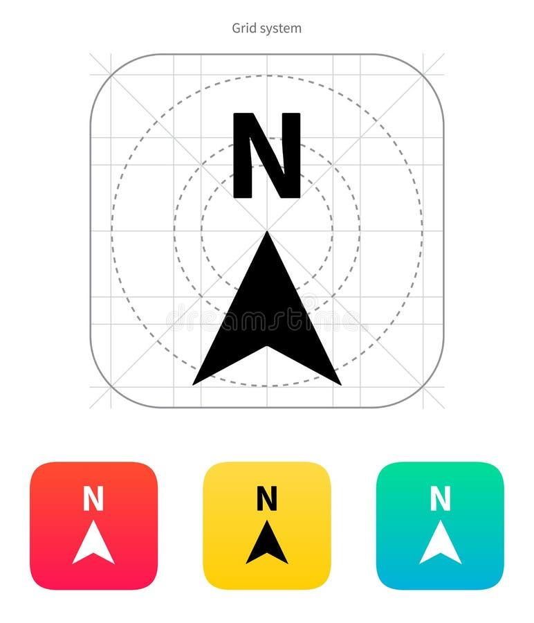Het kompaspictogram van de het noordenrichting. stock illustratie