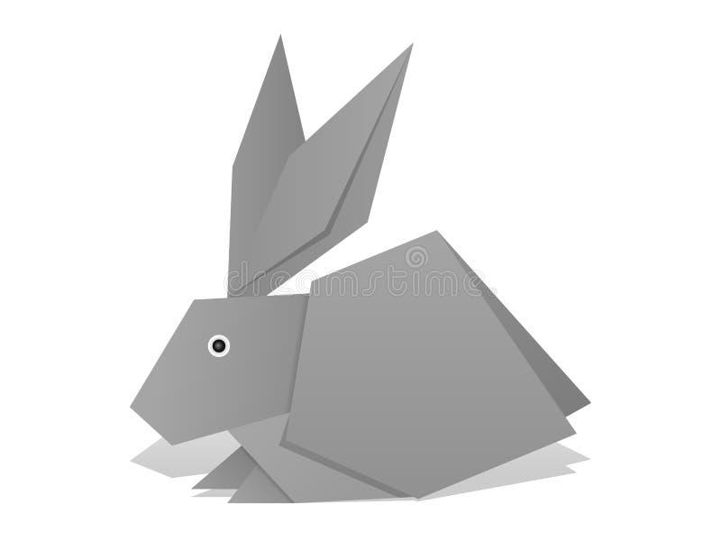 Het konijn van de origami vector illustratie