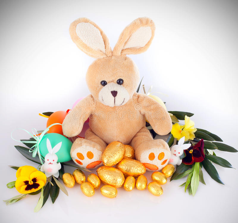 Download Het Konijntje Van De Pluche Stock Afbeelding - Afbeelding bestaande uit pasen, konijntje: 29501383