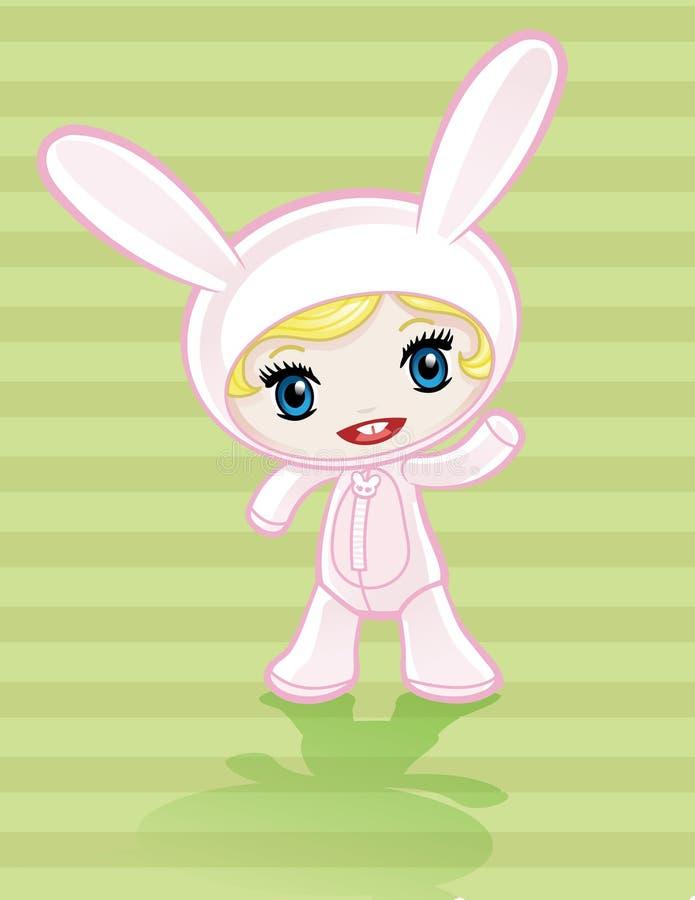Het konijntjesmeisje van Anime vector illustratie
