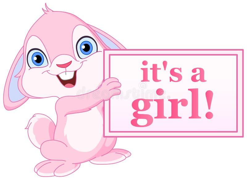 Het konijntjesmeisje van de baby royalty-vrije illustratie