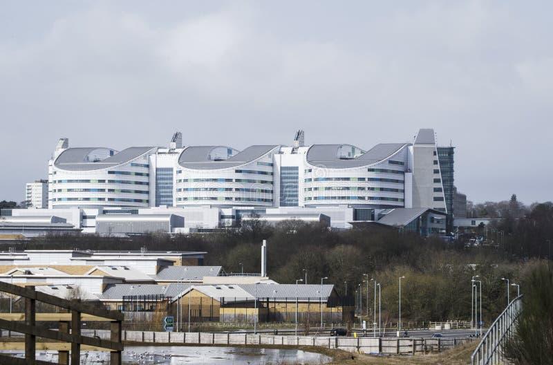 Het koninginelizabeth ziekenhuis in Birmingham stock afbeeldingen