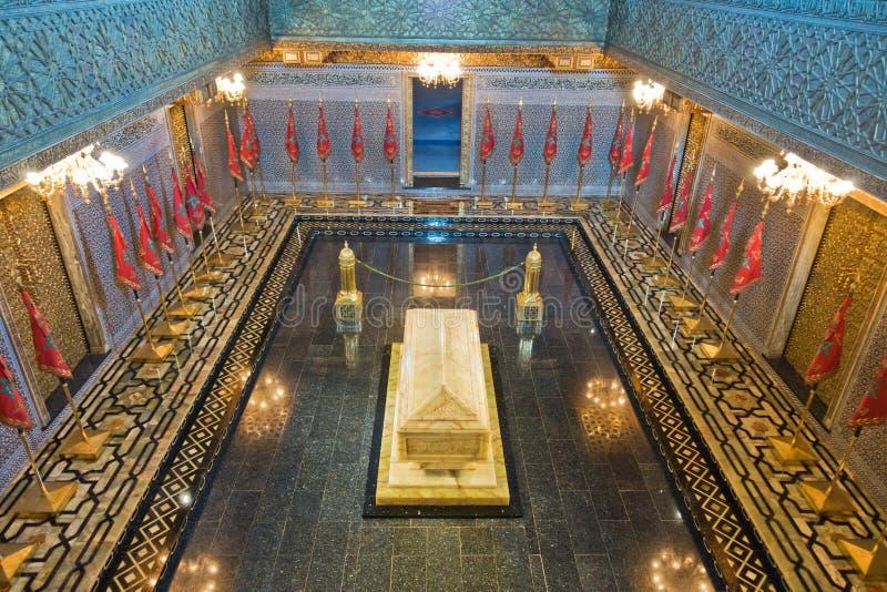 Het Koningshuismausoleum en moskee van Mohammed V in Rabat, Marokko, Afrika stock foto's