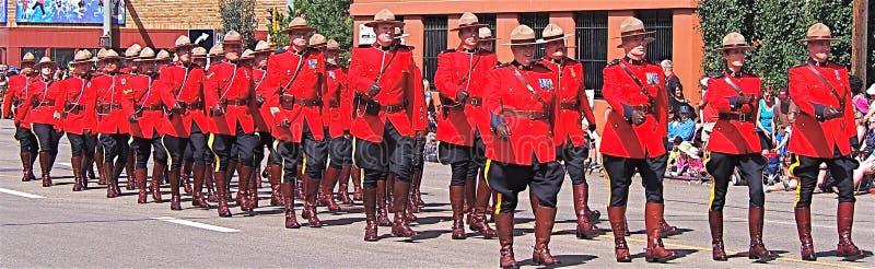 Het koninklijke Canadese marcheren van de Bereden politie stock fotografie