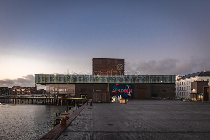 Het Koninklijke Deense Theater in Kopenhagen stock foto