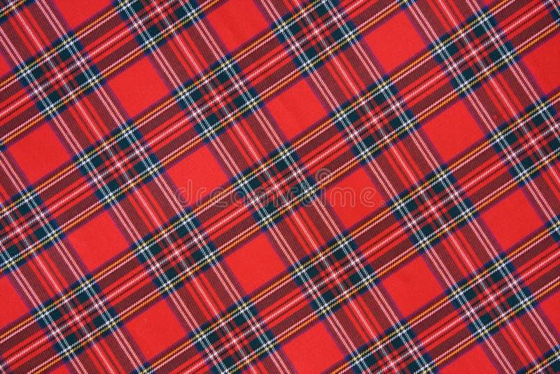 Het koninklijke geruite Schotse wollen stof van Stewart stock afbeelding