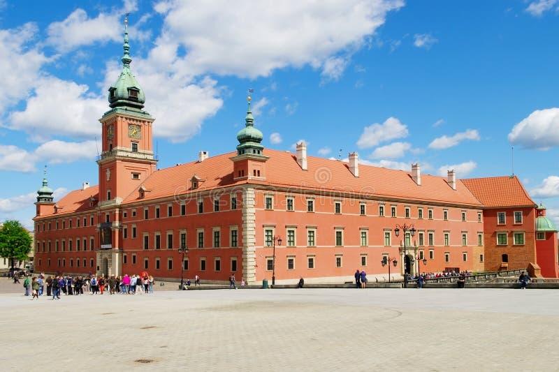 Het Koninklijke Kasteel in Warshau, Polen royalty-vrije stock afbeelding