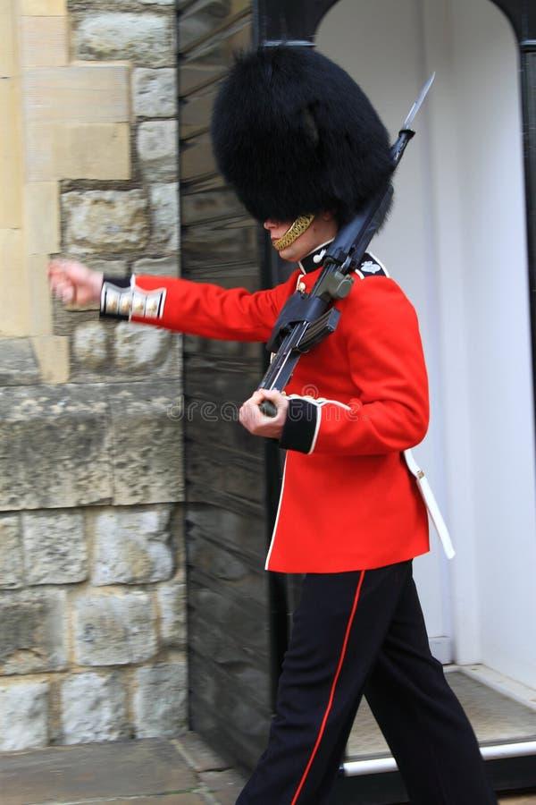 Het koninklijke Marcheren van de Wacht stock fotografie