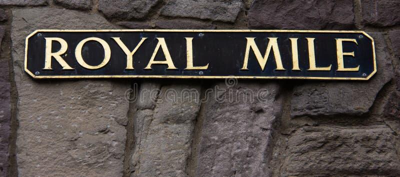 Het Koninklijke Mijlteken in Edinburgh, Schotland royalty-vrije stock foto