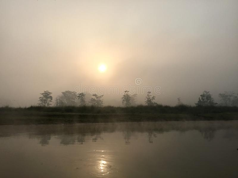 Het koninklijke Nationale Park van Chitwan - Nepal royalty-vrije stock afbeeldingen