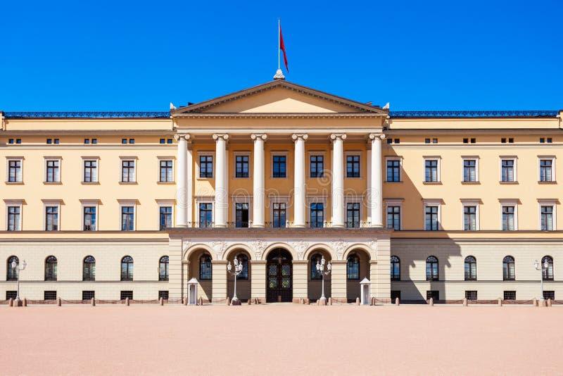 het koninklijke paleis van Oslo, Noorwegen royalty-vrije stock foto's