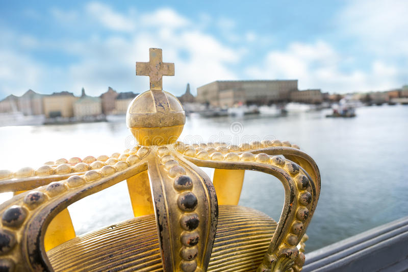 Het koninklijke paleis van Stockholm royalty-vrije stock afbeeldingen