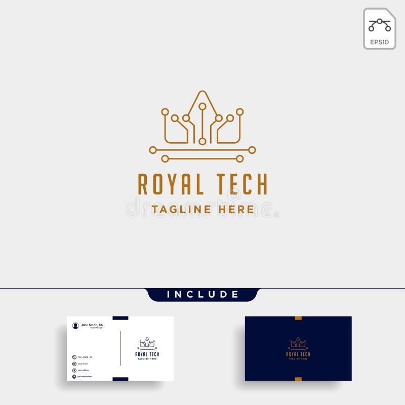 het koninklijke van het het embleemontwerp van krooninternet van de de luxetechnologie teken van het het pictogramsymbool royalty-vrije illustratie